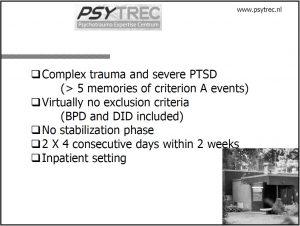 Bilde fra PSYTREC i Nederland, intensivbehandling av PTSD